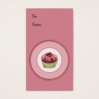 Rosa kleiner Kuchen Visitenkarte