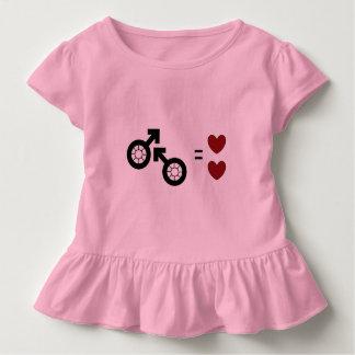 Rosa Kleinkind-Rüsche-T-Stück durch Dal Kleinkind T-shirt
