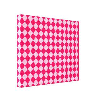 Rosa Kombinations-Diamant-Muster durch Shirley Leinwanddruck