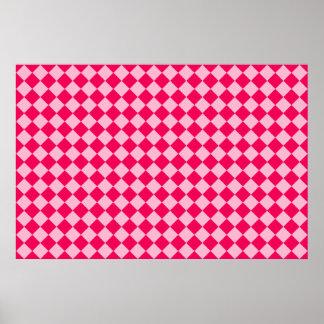Rosa Kombinations-Diamant-Muster durch Shirley Poster