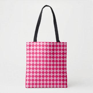 Rosa Kombinations-Diamant-Muster durch Shirley Tasche