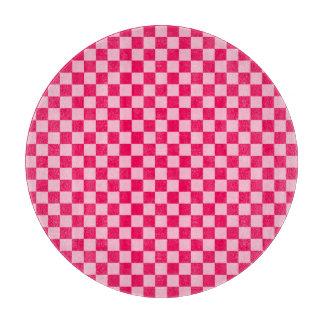 Rosa Kombinations-klassisches Schachbrett durch Schneidebrett