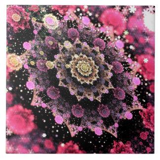Rosa kosmisches Explosions-Fraktal Keramikfliese