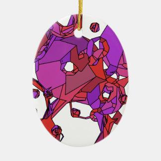 Rosa Krapfen Keramik Ornament