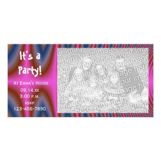 Rosa Krawatten-Party Einladungs-Foto-Karte Karte