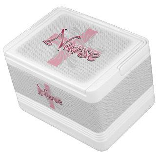 Rosa Kreuz-/Strudel-Krankenschwester Kühlbox