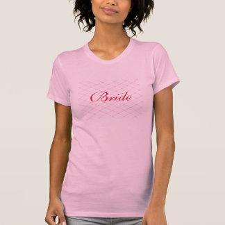 Rosa kreuzweise Brautt-shirts Hemden