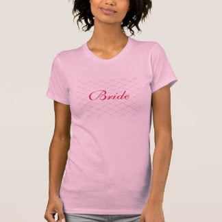 Rosa kreuzweise Brautt-shirts