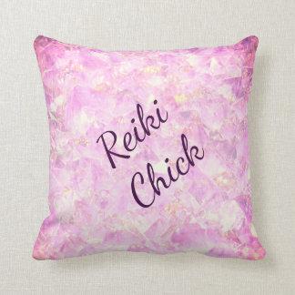 Rosa Kristalle Reiki Kükenentwurf Kissen