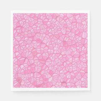Rosa Kristallpapierserviette Papierserviette