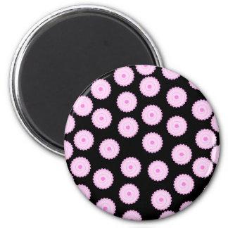 Rosa Kuchen-Muster Runder Magnet 5,7 Cm