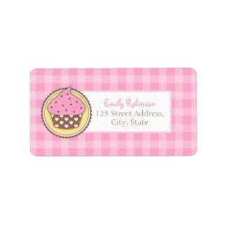 Rosa Kuchen-Rücksendeadressen-Aufkleber Adressaufkleber
