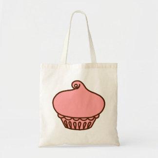 Rosa Kuchen-Tasche Budget Stoffbeutel