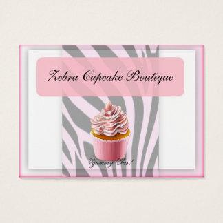 Rosa Kuchenkarte des Zebra Visitenkarte