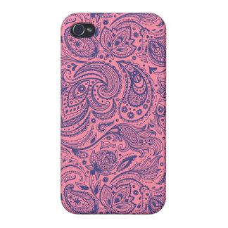 Rosa kundenspezifischer Hintergrund iPhone 4 Schutzhüllen
