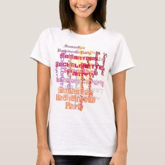 Rosa kundenspezifischer T-Shirt