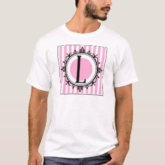 "Rosa ""L"" Monogramm T-Shirt"