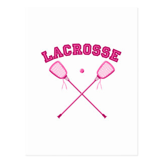 Rosa Lacrosse-Logo Postkarte