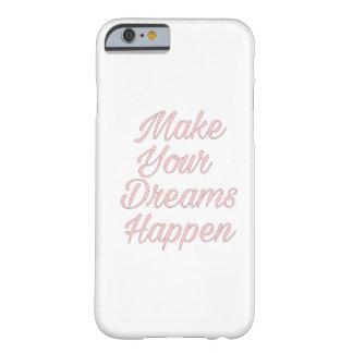 Rosa lassen Ihre Träume geschehen iPhone Hüllen