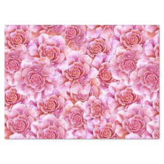 Rosa Lavendel der Succulents mit Blumen Seidenpapier