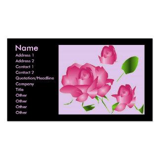 """""""Rosa Lavendel-Rosen-Florist I"""" Profil Visitenkarte"""