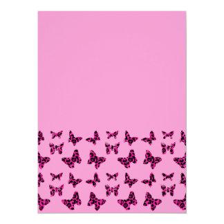 Rosa Leopard beschmutzt Schmetterlings-Muster Individuelle Ankündigskarten