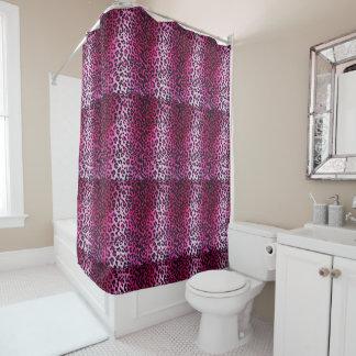 Rosa Leopard-Druck-Duschvorhang Duschvorhang