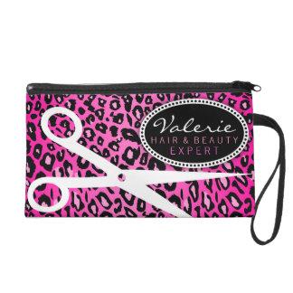 Rosa Leopard-Druck-Haar-Scheren