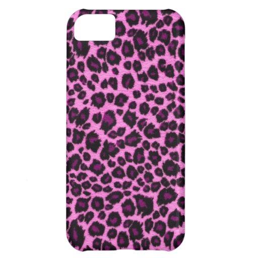 Rosa Leopard-Druck iPhone 5 Fall iPhone 5C Hüllen