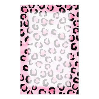 Rosa Leopard-Druck-Muster Personalisierte Büropapiere