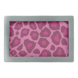 Rosa Leopard-Druck Rechteckige Gürtelschnalle