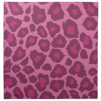 Rosa Leopard-Druck Stoffserviette