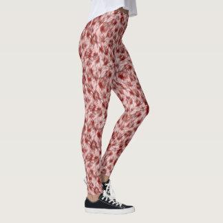Rosa Leopard-Imitat-Pelzgamaschen Leggings
