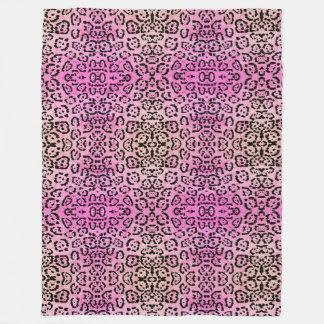 Rosa Leopard-Katzen-Öl-Farben-Effekt Fleecedecke