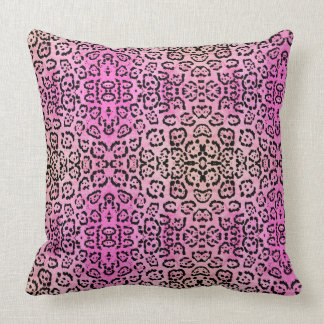 Rosa Leopard-Katzen-Öl-Farben-Effekt Kissen