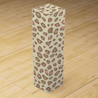 Rosa Leopard-Sahnedruck Weinbox