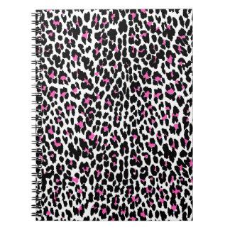 rosa Leoparddruck Spiral Notizblock