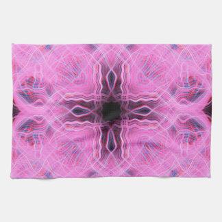 Rosa Licht schleppt Muster Handtuch