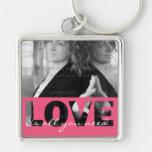 Rosa Liebe-Ausschnitt-Liebe ist alle, die Sie Foto Schlüsselband
