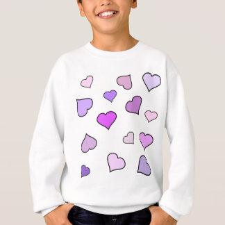 Rosa Liebe-Herz-Muster Sweatshirt