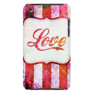 Rosa Liebe mit Streifen iPod Case-Mate Case