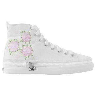 Rosa Liebe-Schuh (Hoch geschnitten) Hoch-geschnittene Sneaker