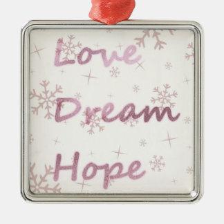 Rosa Liebe, Traum, Hoffnungs-Verzierung Weihnachtsbaum Ornament