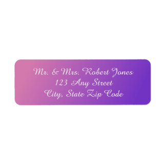 Pink Purple Address Labels