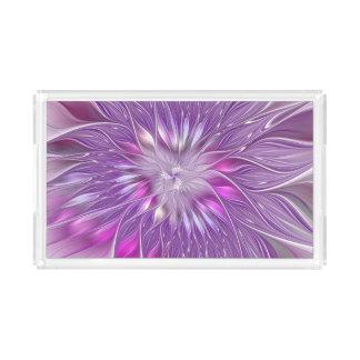 Rosa lila Blumen-Leidenschafts-abstrakte Acryl Tablett