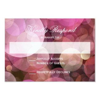 Rosa lila Bokeh abstrakte Hochzeit UAWG Karten Karte