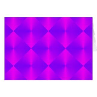 Rosa lila Diamant-Fliesen-Muster Karte