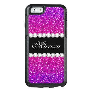 Rosa lila Glitter Ombre cooles Girly Bling Muster OtterBox iPhone 6/6s Hülle