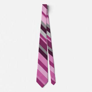 Rosa, lila, graues gestreiftes Muster Krawatte