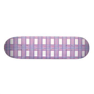 rosa lila karierter Skateboard 20,6 Cm Skateboard Deck